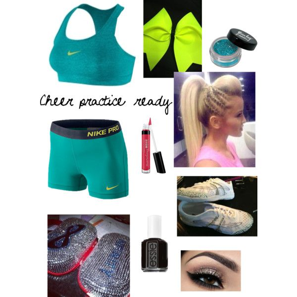 2d7a307e3b1a4 Cheer practice outfit. Nike pro shorts