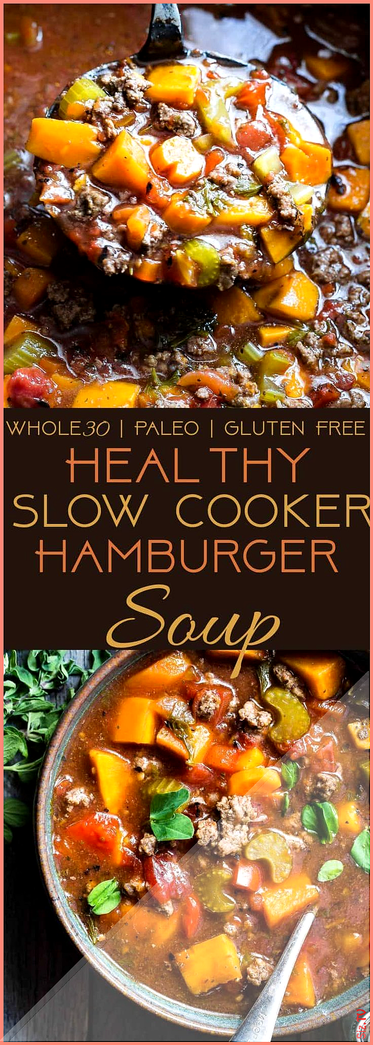 Crock Pot Paleo Hamburger Soup Recipe  Food Faith Fitness Crock Pot Paleo Hamburger Soup Recipe  Foo...