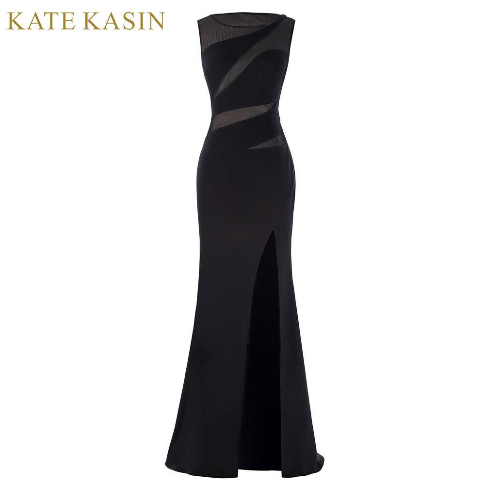 e8151f0c1a3e3e Kate Kasin Schede Slit Mermaid Prom Dresses 2017 Sexy Floor lengte Zien  door Kant Prom Gown
