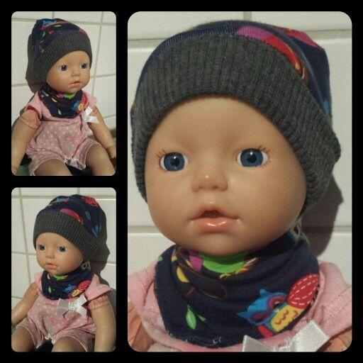 Mütze und Halstuch für Puppenbabys