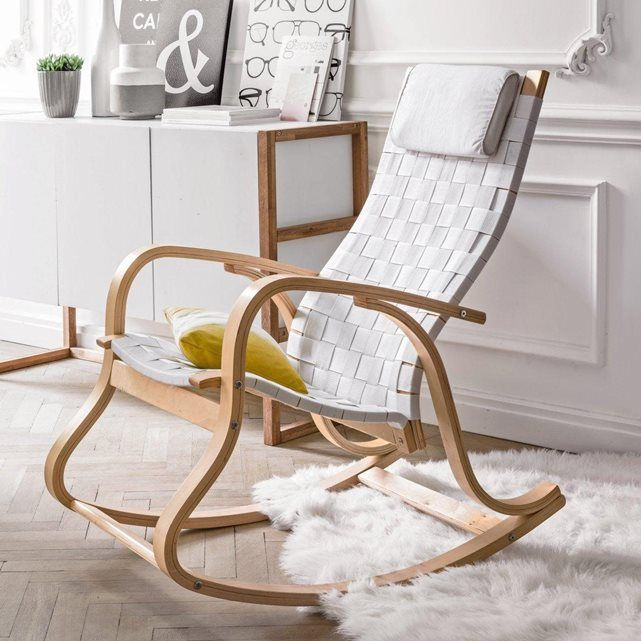 rocking chair design jimi la redoute interieurs la redoute mobile home sweet home. Black Bedroom Furniture Sets. Home Design Ideas