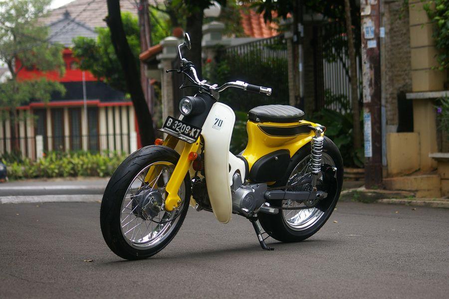modifikasi motor honda 70an  tahun ini
