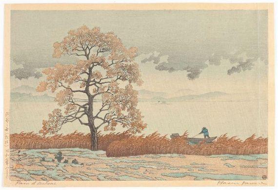 1945 - Hasui, Kawase - Rain at Matsue