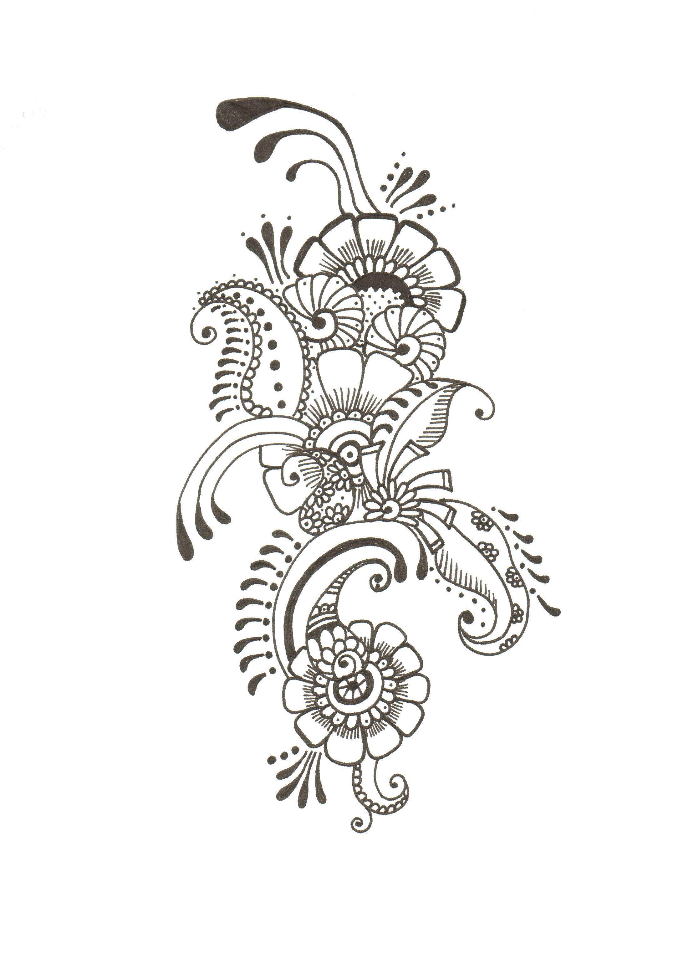 mds00011.jpg 2,151×3,048 pixels | Henna drawings, Flower tattoo ...