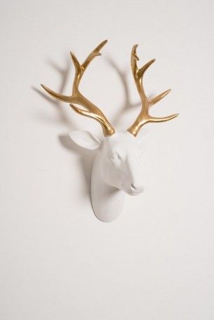 White Stags Head Wall Decoration Stag