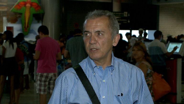 Treinador esteve no Recife nesta quarta-feira. Foto: Reprodução/TV Jornal