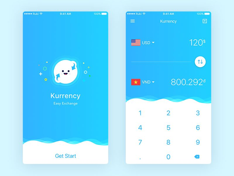 Currency Exchange Concept App - Free sketch resource for download - copy exchange blueprint application