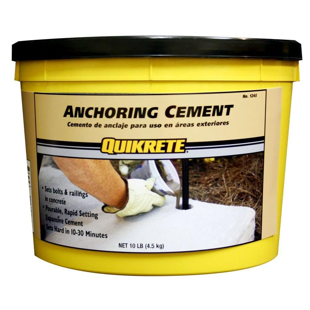 Quikrete 10 Lb Anchoring Cement 124511 The Home Depot Cement Concrete Mix Concrete