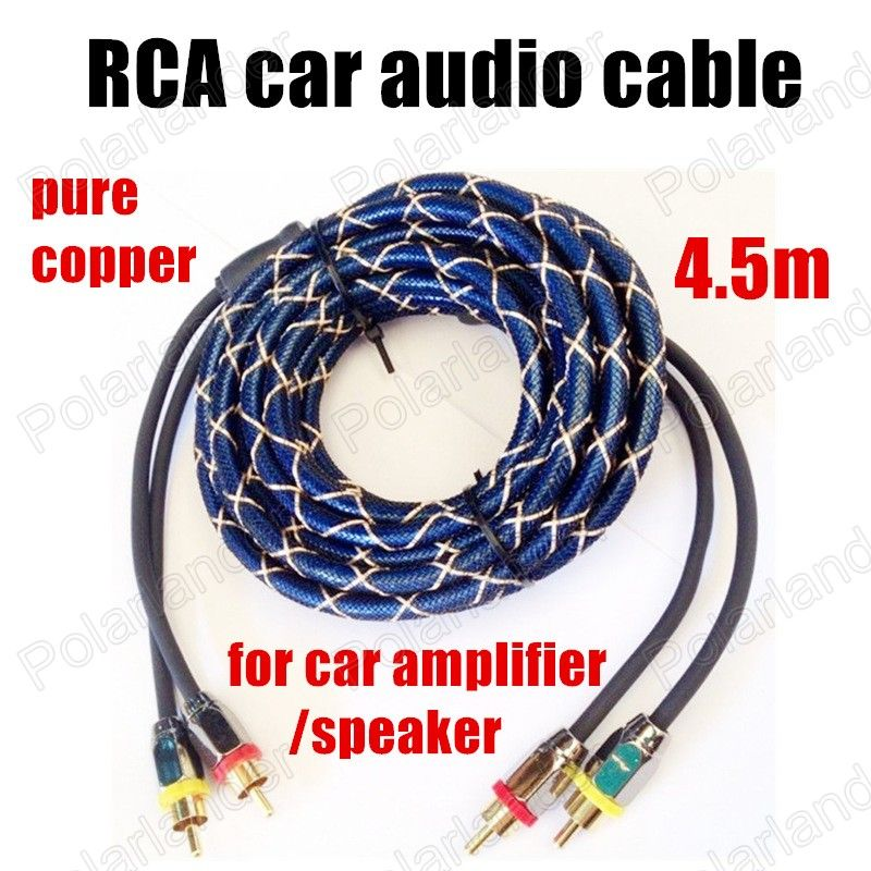 best selling 4.5m pure copper RCA to RCA car audio Cable stereo ...
