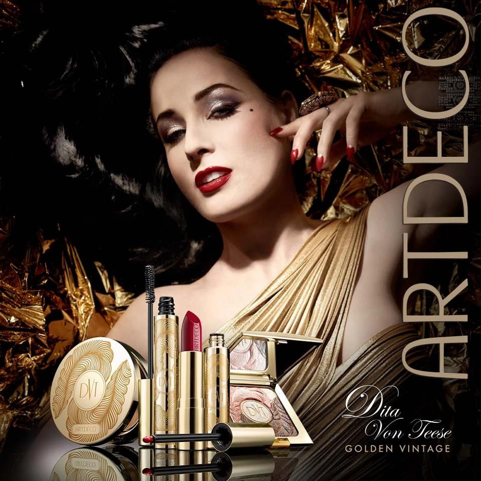 ArtDeco Dita von Teese Golden Vintage Makeup Collection