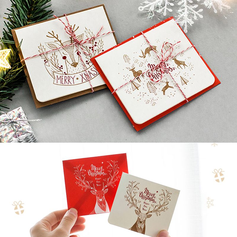 Mini Set Christmas Card Leave Message Cards Lucky Loveparty