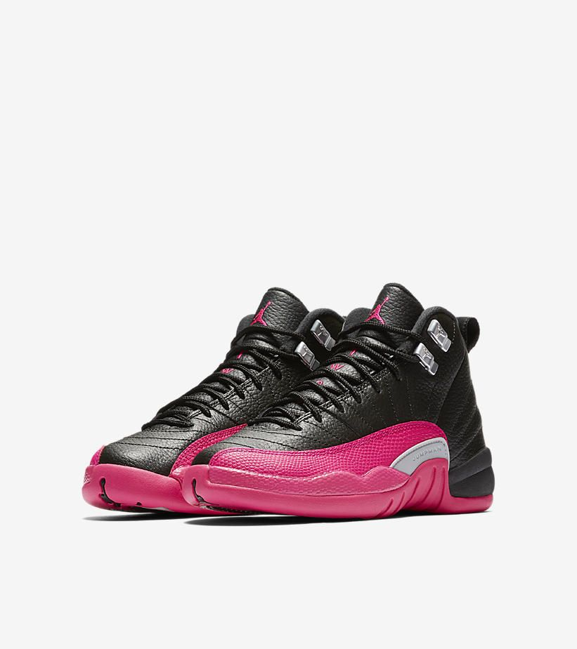 brand new 4ce62 977eb Girls Air Jordan XII (12) Retro 'Black/Deadly Pink' -Release ...
