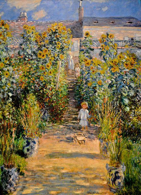 Claude Monet . The Artist's Garden at Vétheuil