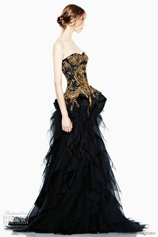 gold corset evening gown