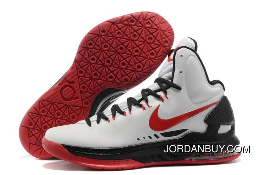 finest selection 4193c cf9e4 Wholesale Discount Nike Zoom KD V White Black Red 554988 102 Basketball  Shoes Store