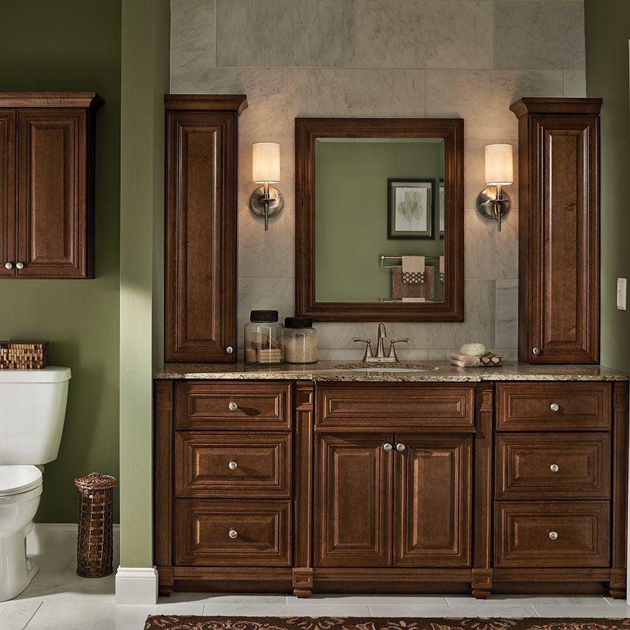 monroe vanity in cognac villa bath by rsi at lowe s on lowes vanity id=70953