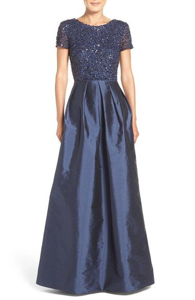 a03981337cfe5 Adrianna Papell Sequin Bodice Taffeta Ballgown available at #Nordstrom