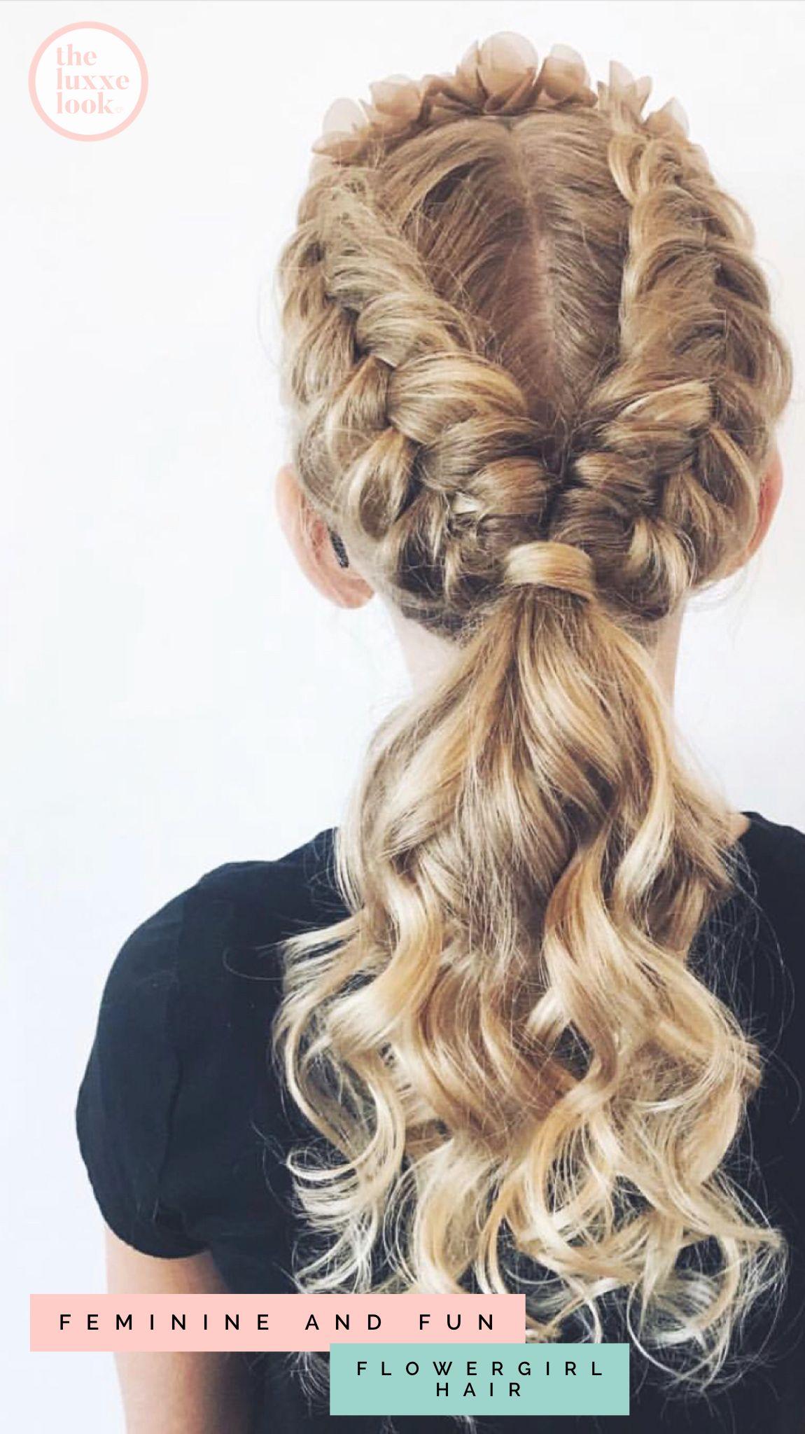 Flower girl Hairstyles   Flower girl hairstyles, Wedding ...