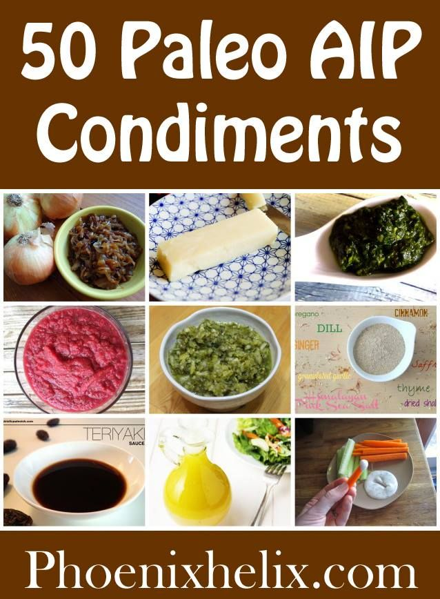 paleo diet plan condiments