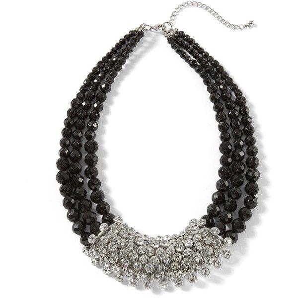 Bridal Shoes Harvey Nichols: Jet/Crystal Statement Necklace ($78) Found On Polyvore