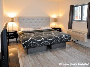 What S Black And White And Cream All Over This Lovely Furnished Apartment Rental In Nyc New York Apartment Apartment Furnished Apartment