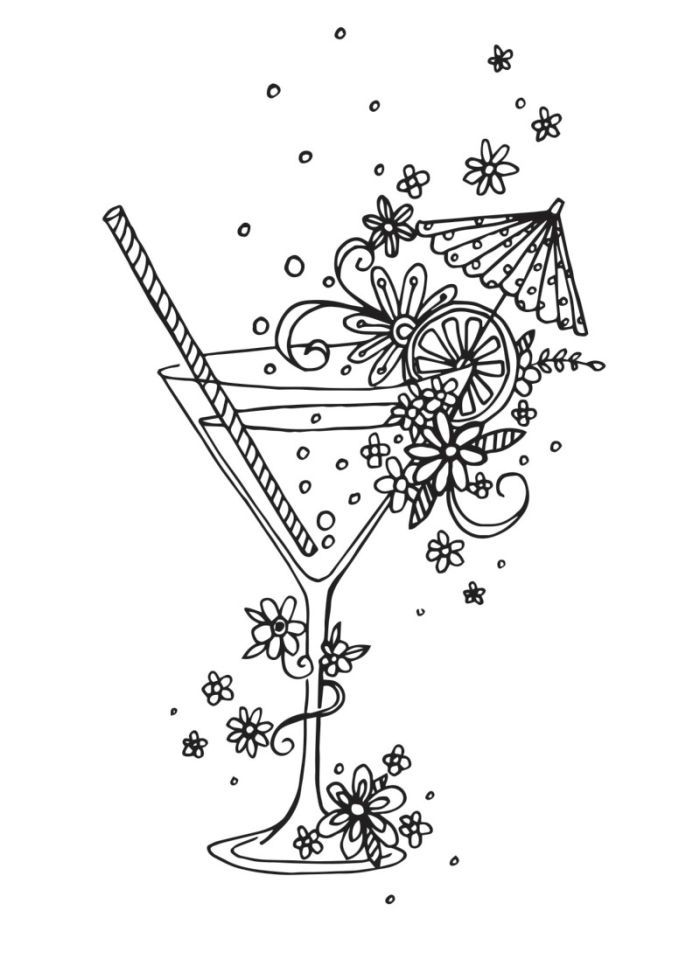 Claire Mcelfatrick - Cocktail Linework | How cool is this ...