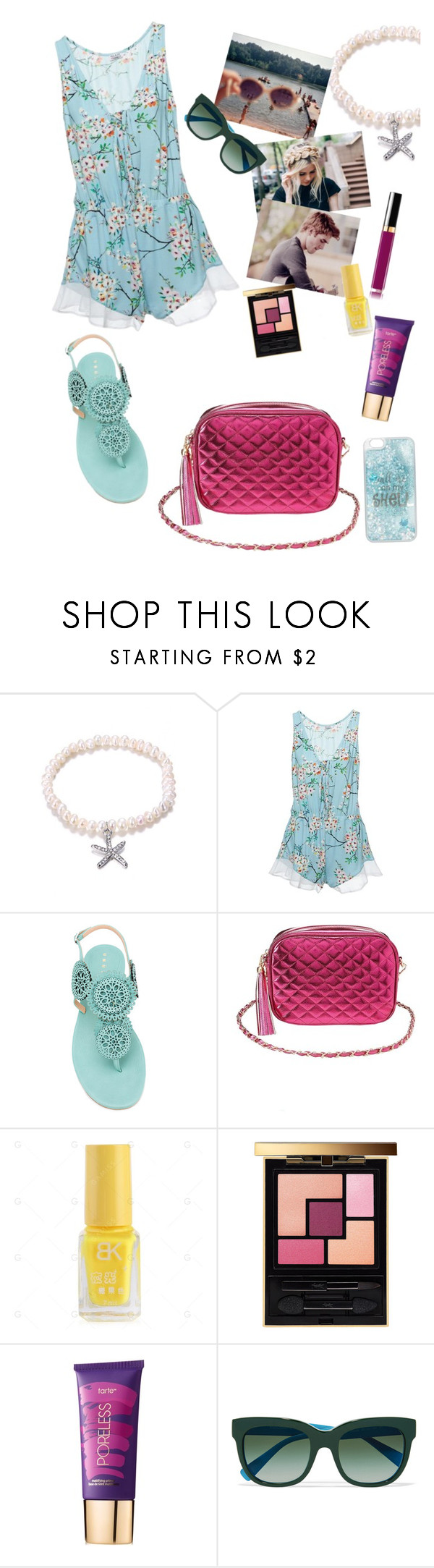"""""""it's a hot one"""" by elliewriter ❤ liked on Polyvore featuring Cosabella, Unützer, Charlotte Russe, Yves Saint Laurent, tarte and Dolce&Gabbana"""
