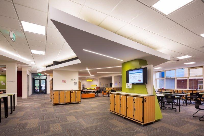 Killester College - in Springvale, Australia #education #commercialspaces #commercialinteriors #design #flooring