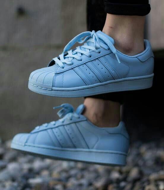 Light blue adidas superstar   Adidas