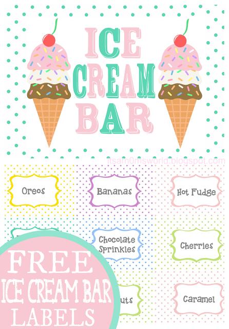 Ice Cream Sundae Bar FREE Printables   It\'s a Mom\'s World Posts ...