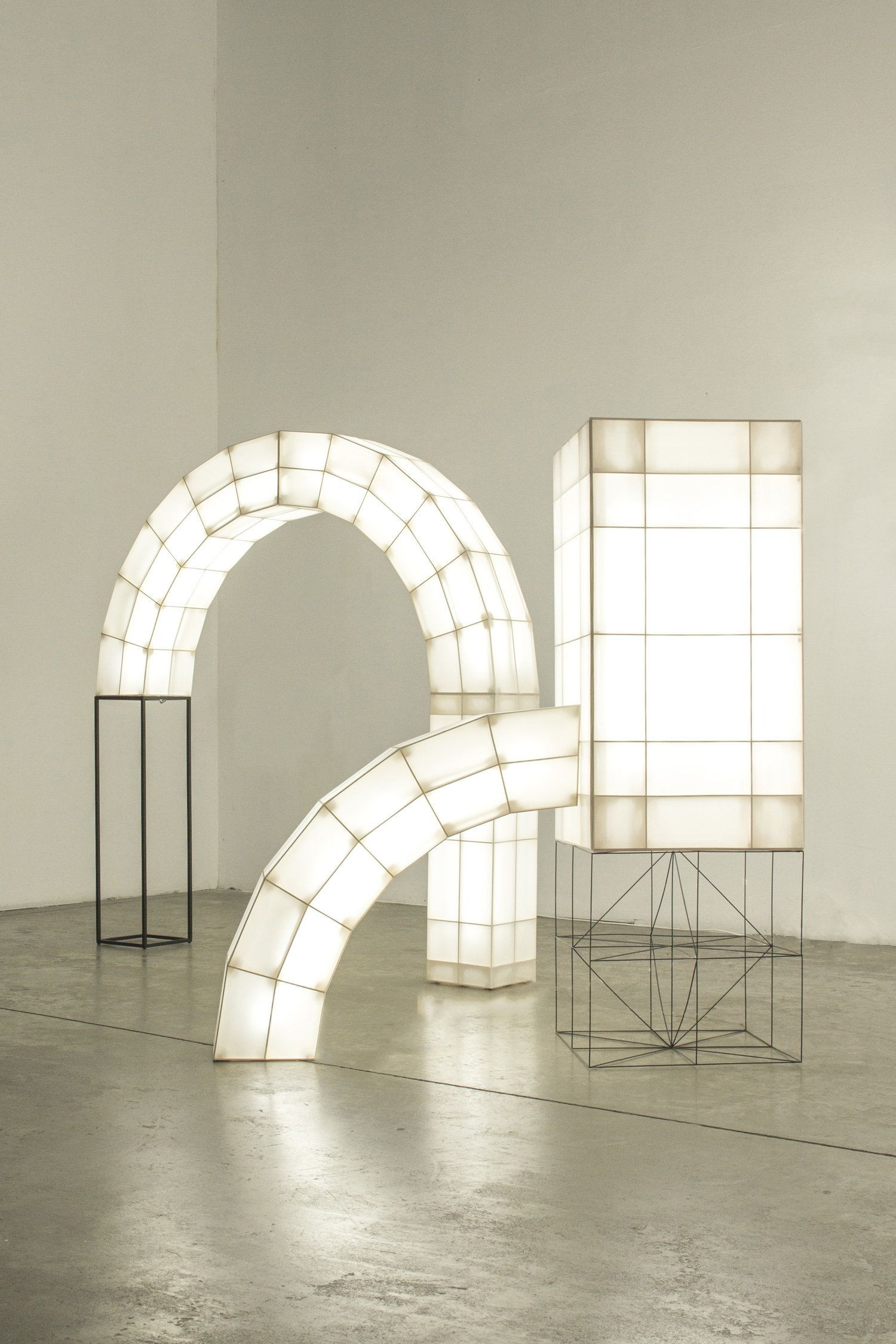The abstract volumes of the Space Frames are based on archetypical ...
