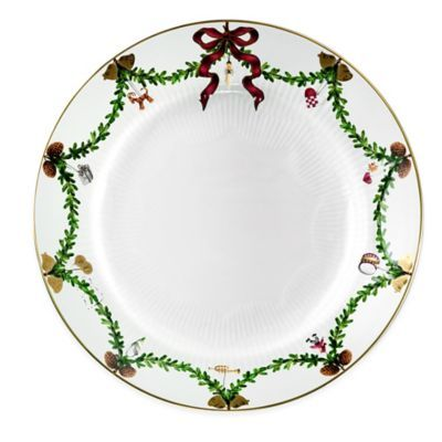 Royal Copenhagen Star Fluted Christmas Dinner Plate - BedBathandBeyond.com