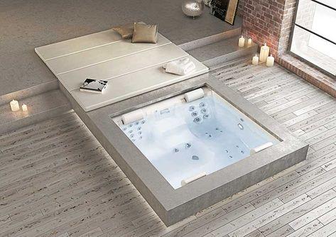 Moderne Whirlpool im Badezimmer Garten Pinterest - whirlpool im garten selber bauen