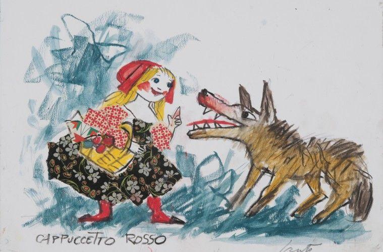 Emanuele Luzzati Fiaba Cappuccetto Rosso Sketchbook Inspiration