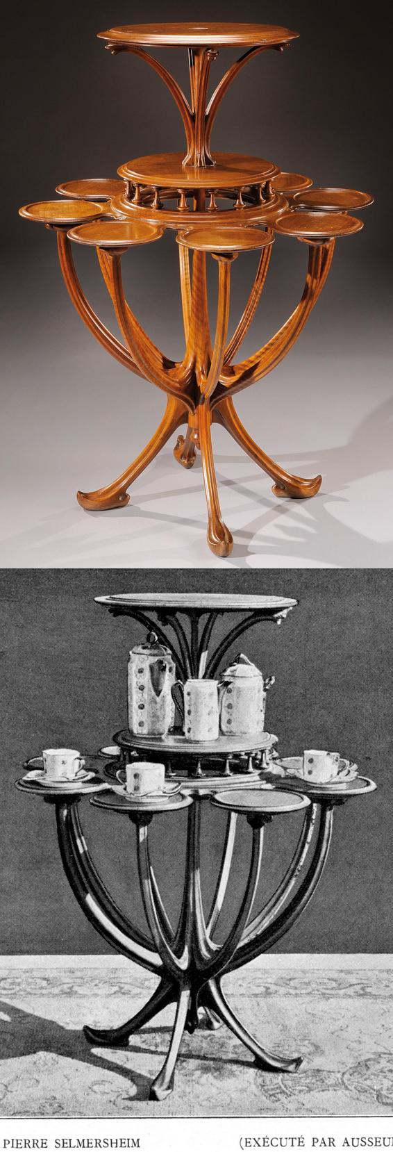 desserte en noyer tony selmersheim 1900 art nouveau stuffs pinterest desserte noyer. Black Bedroom Furniture Sets. Home Design Ideas