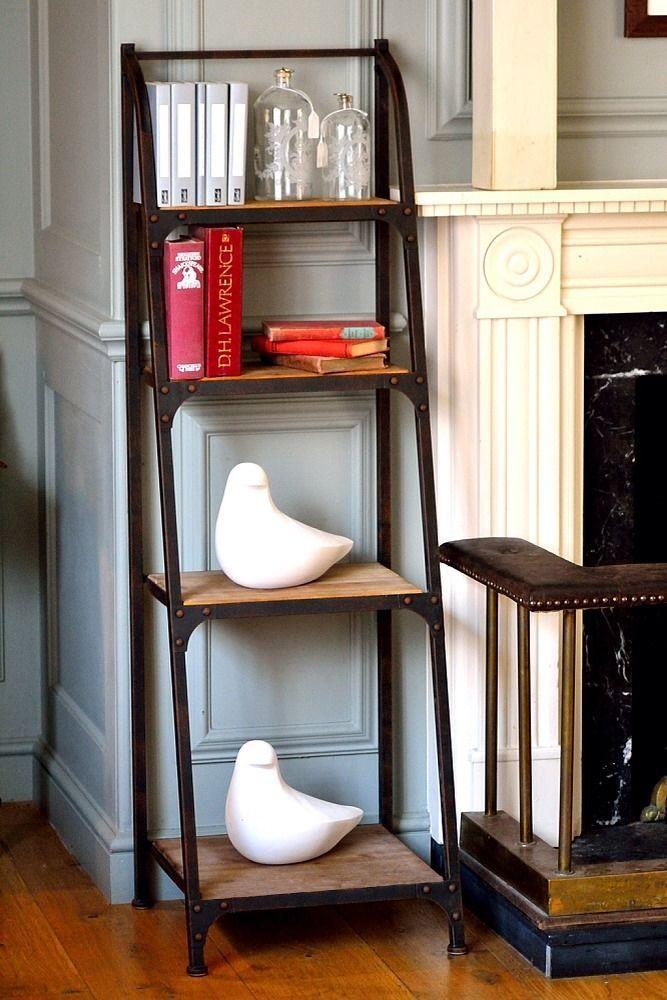4 Tier Metal Frame Bookshelf