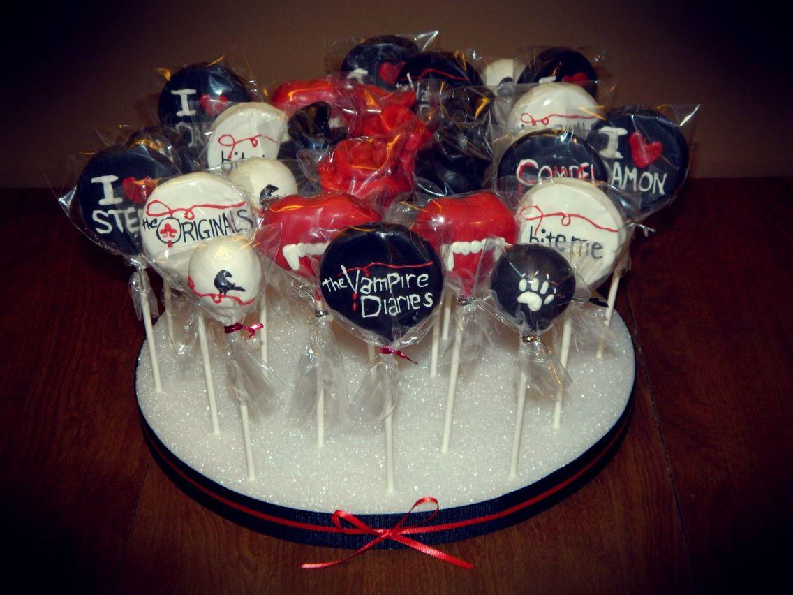 My Vampire Diaries Cake Pops Vampire Diaries Vampire Theme Party Vampire Party