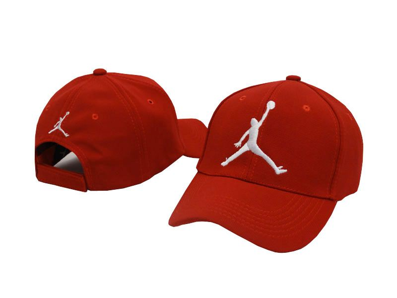 1e4b9a3725b Mens   Womens Nike Air Jordan The Jumpman 3D Embroidery Logo 6 Panel  Fashion Strap Back Adjustable Polo Cap - Red