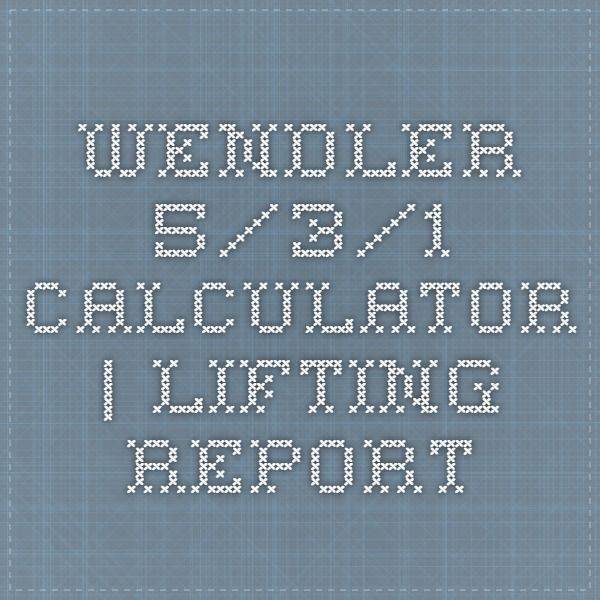 Wendler 5/3/1 calculator | (I'm BEYOND excited I found this