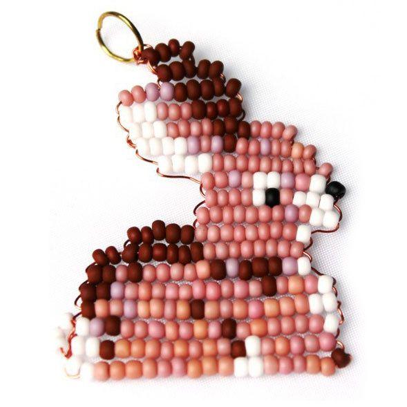 perle de rocaille lapin