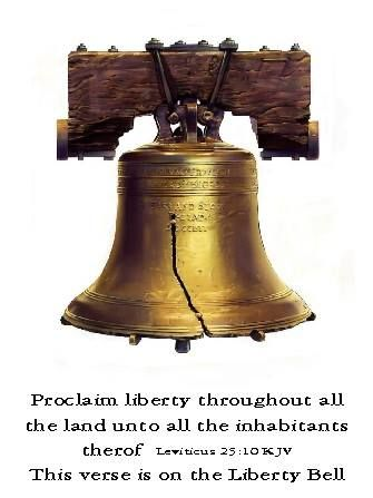 Proclaim liberty throughout all the land unto all the inhabitants ...