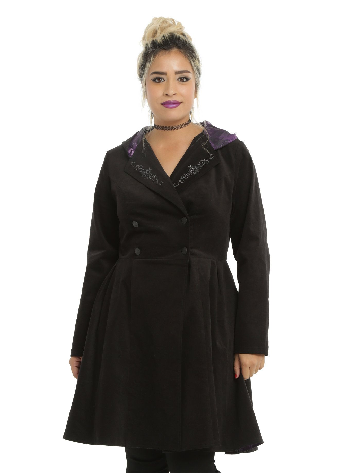 The Nightmare Before Christmas Girls Trench Coat Plus Size | Girls ...