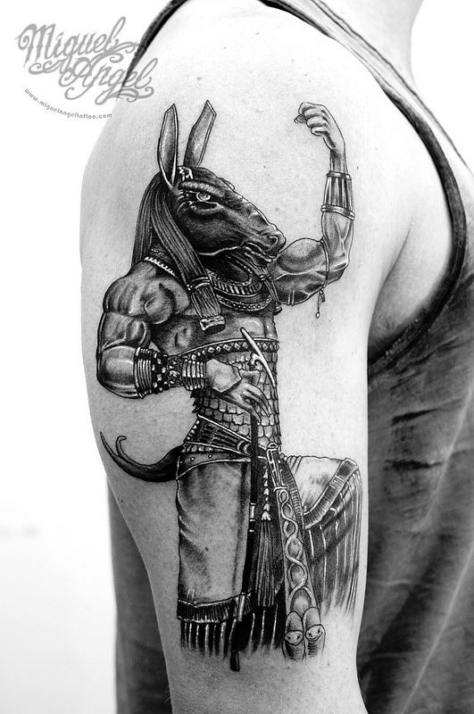Seth Egyptian God Tattoo