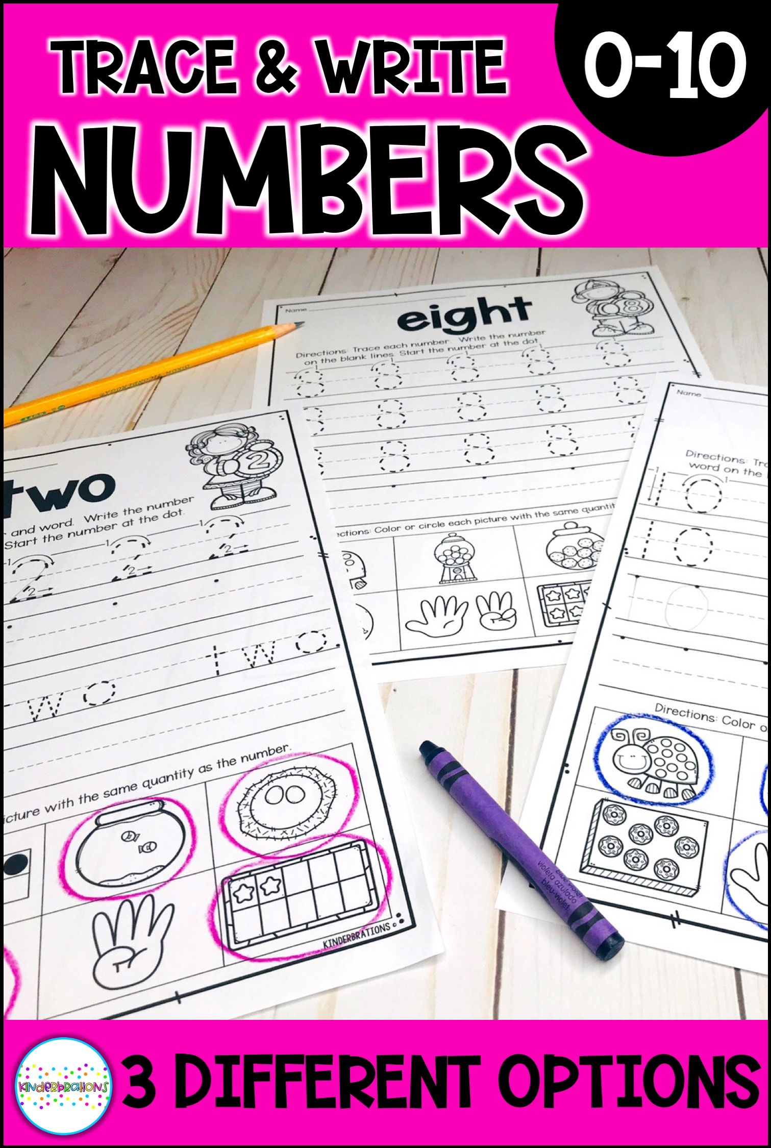 Trace And Write Number Writing Practice Pages 0 10