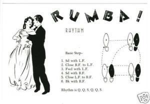 Postcard Of Rumba Dance Steps Diagram Postcard Rumba Dance Dance Steps Dance Lessons