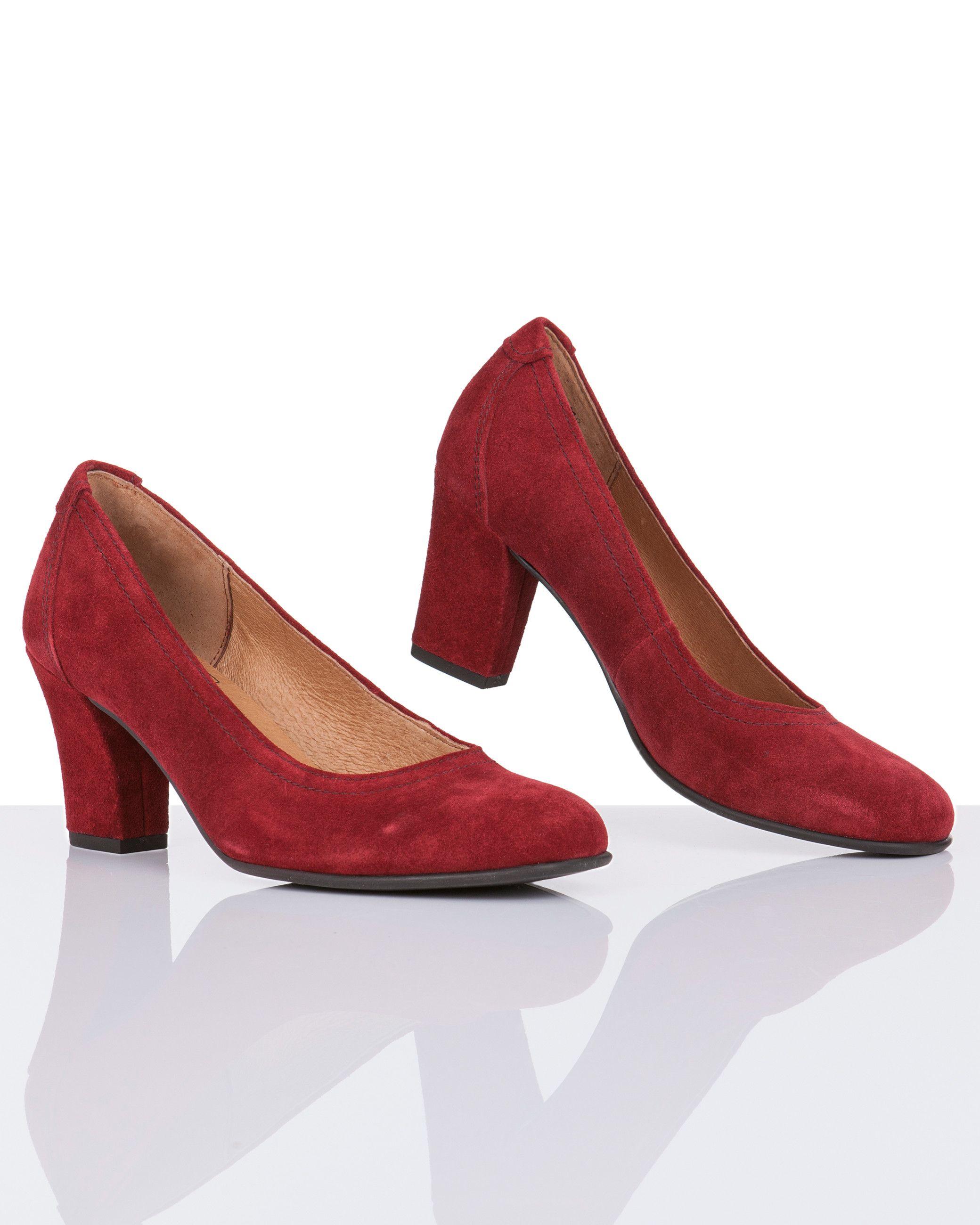 Caprice | Women's Fashion | rote Veloursleder Pumps | #HSE24