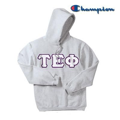 07481950eacc Tau Epsilon Phi Champion Hooded Sweatshirt - Champion S700 - TWILL ...