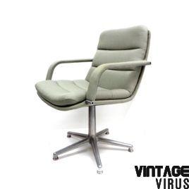 Artifort Bureaustoel Vintage.Nl Vintage Fauteuil Bureaustoel Geoffrey Harcourt Voor Artifort
