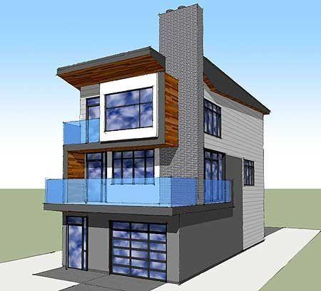 High Quality Narrow Lot Beach House Plans #10 Plan W84903sp Narrow ...