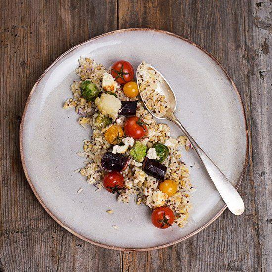 Rice & vegetables gratin